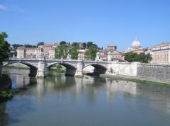 """Swimming the Tiber"" is a euphemism for Roman Catholic conversion, as it is the river identified with the Vatican."
