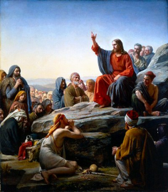 Jesus talking