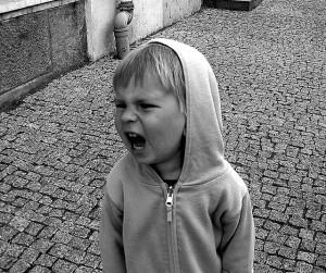 kid yelling